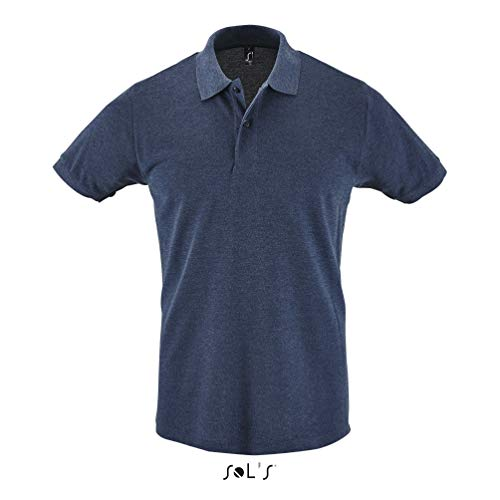 SOLS Herren Polo Shirt Perfect Heather Denim XL