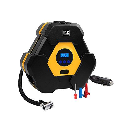 Compressore Portatile,12V Compressore d'aria,Pompa per auto,Compressori Portatili,Gonfiatore portatile della gomma, indicatore pressione del pneumatico