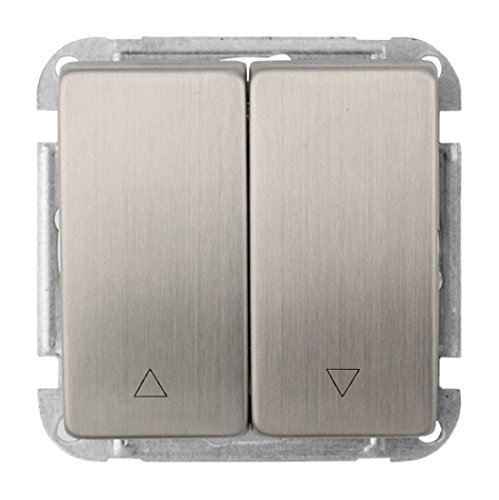 wintop Lux Metal Interruptor de persiana (Incluye Marco Shutter Switch with Up/Down Switch Get Blind Switch Cover for Free 63mm * 63mm, 1Pieza, Plata, 11940lm de S610de p953a