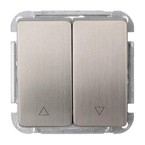 Wintop Face Dual USB stopcontact opladen socket frame, 1 stuk Rolluikschakelaar 63Mm*63Mm (11940LM-S610-P953A) zilver