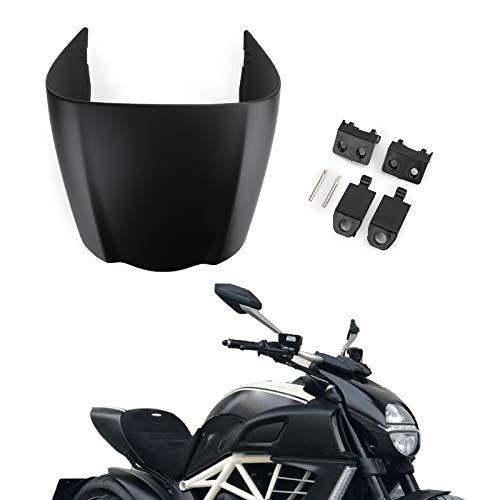 Topteng Motorrad Hinten Sozius-Sitz, Motorrad Fondpassagier Soziusabdeckung ABS Pad Motor Verkleidung Heckabdeckung für DU-CATI 2011-2013 DIAVEL 1200