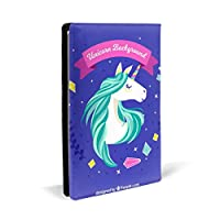 WBDLJHAブックカバー 8.7x5.8in Cute Magical Unicorn ブックカバー 文庫 コンサイス 皮革調 手作り手帳 日記帳 システム手帳 アンティーク ブックカバー 詰め替えレザートラベルジャーナル執筆日記 卒業記念品