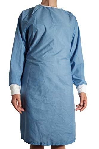 Isolation Gown Re-Usable Cotton and Poly Mix Protective Suit Level 2 (SURGICAL BLUE)
