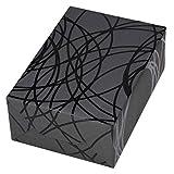 Geschenkpapier edel 3 Rollen (75 x 150 cm), Motiv Pablo in schwarz auf grauem, mattem Fond, Lack. Für Geburtstag, Männer. Motiv Pablo, modern und hochwertig.