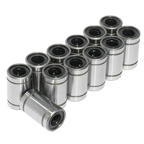 12 Stück/Los Lm8Uu Linearbuchse 8Mm Linearkugellager 3D-Druckerteile Silber