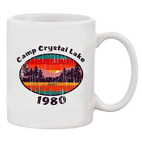 Camp Crystal Lake 1980 Halloween Kostüm Fan Tragen Weiße Kaffeetasse (Weiß,11 Oz)