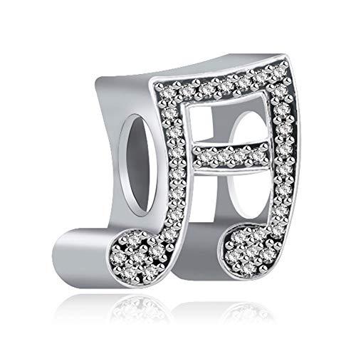 Korliya Love Music Notes Charm Beads for Charms Bracelet