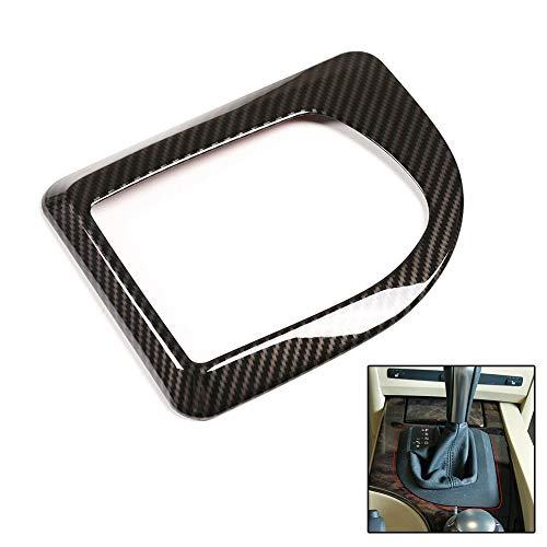 ZQALOVE ZHANGQINGAN Qualität ABS Zierabdeckung Borte gepasst for BMW 5er E60 E61 04-07 Carbon-Faser-Art-Gangschaltung-Panel-Rahmenabdeckung
