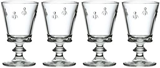 La Rochere French Bee Wine Glass, 9-Ounce, Set of 4