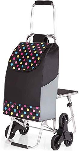 DJY-JY Carrito Banco de tirón Creativa Plegable portátil de tranvía ensanchamiento empuñadura Confort