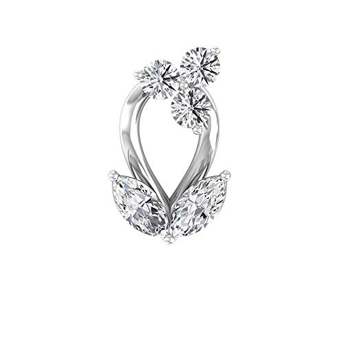 Rosec Jewels 14 quilates oro blanco marquise-shape round-brilliant-shape H-I Diamond