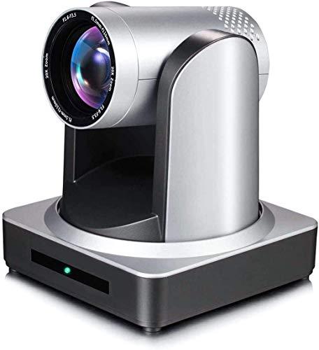 JIMCOM PTZ Kamera HDMI / SDI / LAN Ausgang, PTZ Webcam 1080P Anwendung Videokonferenzen & Kirche,ONVIF /RTSP/RTMP 20X-silbergrau