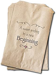 Wedding Candy Bags - Wedding Favor Bags - Engagement Party, Bridal Shower Treat Bags - 6.25