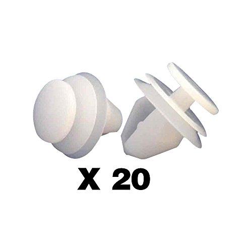 Tuqiang® Türverkleidung Clips Teilenummer 807-6991S6/6991.S6 20 Stück Weiß