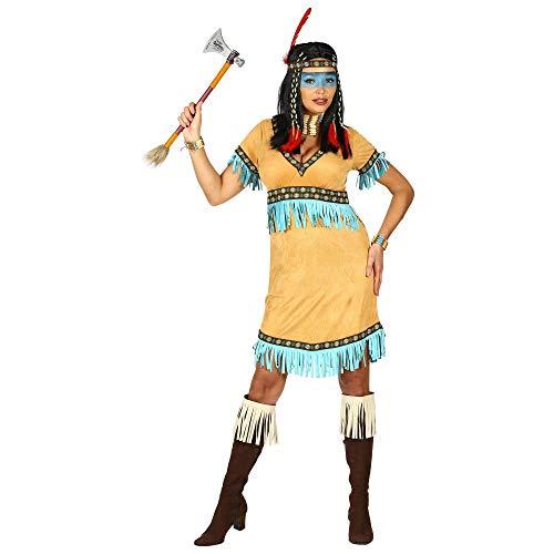 WIDMANN 00294 Disfraz de india para mujer, beige, XL