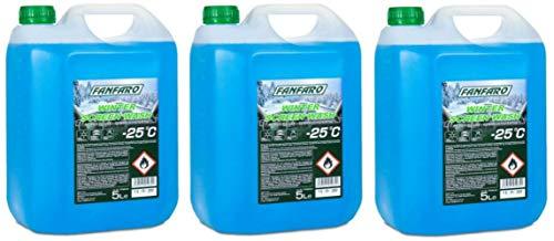 FANFARO Screenwash – 25C All Seasons Winter, 15 litros