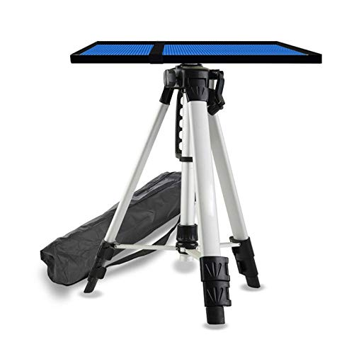 ERTYU Projector Tripod Stand Foldable, Multi-function Stand Adjustable Height 17' to 47' Tripod Laptop Projector Stand, Aluminum Heavy Duty Projector Stand with Tray Silver