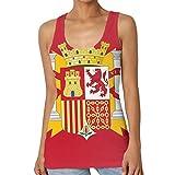 Camiseta sin Mangas Estampada Estampada para Mujer Camiseta sin Mangas con Bandera de España
