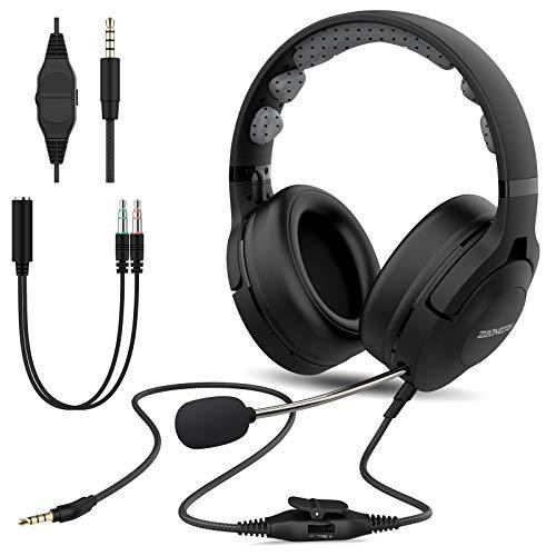 Esolom PC Headset, 3,5mm Klinke Headset Handy, Wired Business Headset mit Noise Cancelling Mikrofon für Skype-Chat Call Center Office Telefonkonferenzen Gaming Musik,Call Control Ultra Komfort