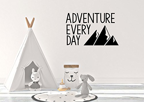 Avontuur elke dag met Mountain Silhouette Vinyl Decal/Sticker - Home Decor - Adventure And Mountain Decor - Wall Decor Art 14