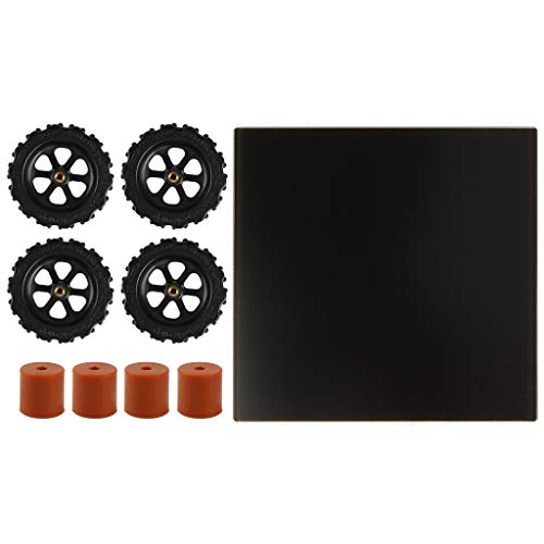 RETYLY 3D Printer Parts Glass Plate 310X310mm Heat Bed Lattice Glass Hotbed Build Plate 3D Printing for CR-10S Pro MK2 MK3