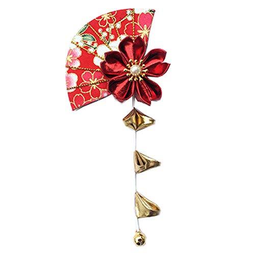 Fancy Pumpkin Pinces à cheveux Sakura fait à la main de style japonais Kimono/Hanfu/Yukata Accessoires pour cheveux pour Cosplay/Mariage-E09