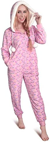 Littleforbig Super Soft Plush Fleece Adult Onesie Pajamas Sherpa Lined Hoody One Piece Sleepwear product image
