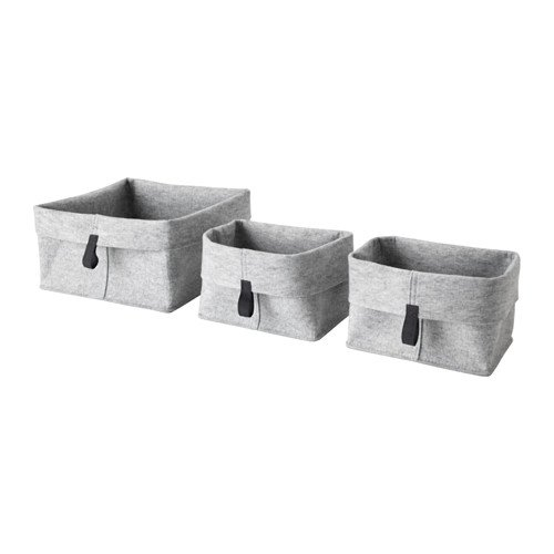 Ikea RAGGISAR Korb 3er-Set, grau