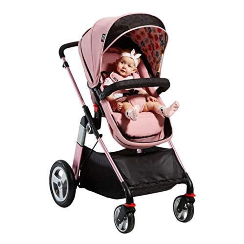 Carrito de bebe Cochecito de bebé de diseño abierto High Landscape Can Sitting Reclinable cochecito plegable ligero (adecuado para 6 meses - 3 años de edad, para bebés) Cochecito/Silla Paseo