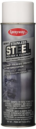 Our #6 Pick is the Sprayway SW841 Stainless Steel Cleaner