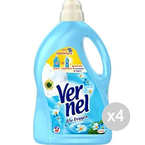 Vernel Set aus 4 Weichspüler Lt 3 Blau Classico 40 Mis Waschmittel Waschmittel und Kuh, Mehrfarbig