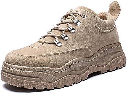 Na-Zh Chaussures à Semelles Compensées en Coton baskets Casual chaussures Plus pour Hommes