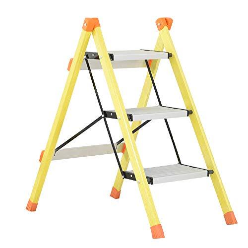 LSX-Step Krukken Stap Kruk Multifunctionele Huishoudelijke Vouwladder Aluminium Glas Staal Ladder Drie Stap Ladder Stap ladder