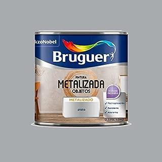 Pintura efecto metalizado para objetos Bruguer 125 ml (Plata)