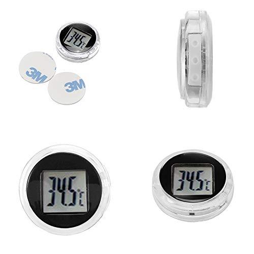 Prenine Termómetro Digital para automóvil, Pasta compacta Impermeable, Universal para Interiores y Exteriores