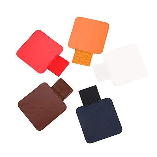 lovingmona Stiftschlaufe Selbstklebend 5 Stück Pen Loop Stifthalter Selbstklebend für Notizbuch Kalende Klemmbrett Rot Weiß Orange Brown Blau