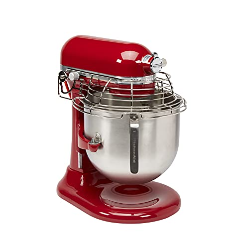 KitchenAid KSMC895ER 8-Quart Commercial Countertop Mixer with Bowl-Guard, 10-Speed, Gear-Driven,...