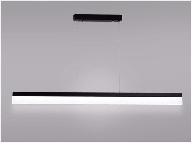 Perfect Home NonDimmable LED Pendant Lamp. Long Linear Office Strip, Adjustable Pendant, Simple Metal, Ceiling Lamp, Ceiling Fixture, Kitchen, Aisle, 100 cm, 6000 K Durable