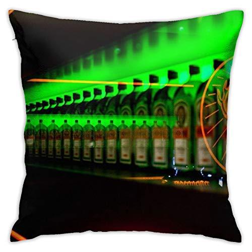 Jagermeister - Funda de almohada decorativa para el hogar, para sala de estar, dormitorio, sofá, silla, funda de almohada de 45,7 x 45,7 cm