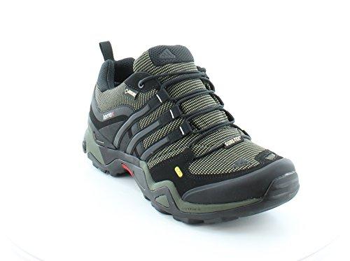 zapatos para caminar al aire libre de los hombres de adidas Terrex Fast X GTX de carbono / núcleo negro / color escarlata Negro - G97917