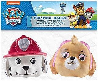 كرة وجه باو باترول بوب مرخصة رسميًا من بن بلاكس - عبوتان - ألعاب للكلاب مع مصدر أمان لأصوات الزقزقة (مارشال وسكاي)