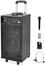 Pyle 800 Watt Outdoor Portable Wireless PA Loud speaker - 10'' Subwoofer Sound System with Charge Dock, Rechargeable Batte... photo
