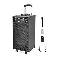 commercial Pyle 800W Portable Wireless Outdoor Speaker – 10-inch Subwoofer with Charge… pyle pro pa