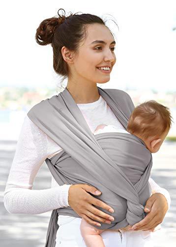 FUUFA atmungsaktives Babytragetuch ist ein elastisches Sling Tragetuch für Neugeborene und Babies inkl. Bindeanleitung und gratis Kordelzugbeutel, dein Baby wird unser Babytuch/Tragesystem lieben