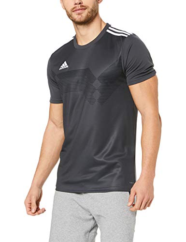 adidas CAMPEON19 JSY T-Shirt, Champion 19, Grau (DGH Solid Grey / Weiß), M