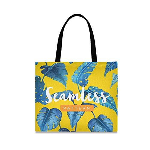 Banana Leaf Seamless patroon boodschappentas handtas handtas herbruikbare mode met grote capaciteit casual