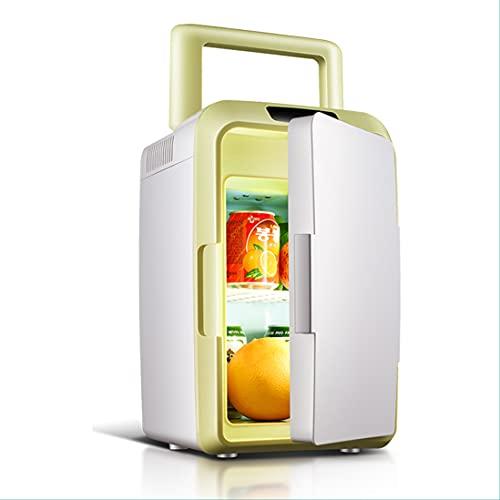 Mini Refrigerador Portátil Para El Hogar Congelador Portátil Para Autos Al Aire Libre Refrigerador Pequeño De 12 Litros Con Asa Nevera Silenciosa Compacta Enfriador De Doble Uso Calentador