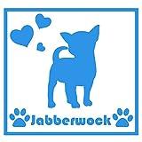ForzaGroup(フォルザグループ) 全犬種 全猫種対応 チワワ4(4201) 犬 イヌ いぬ dog 防水 車 ステッカー sticker シール 名前入れ 14cm×14cm (ブルー)