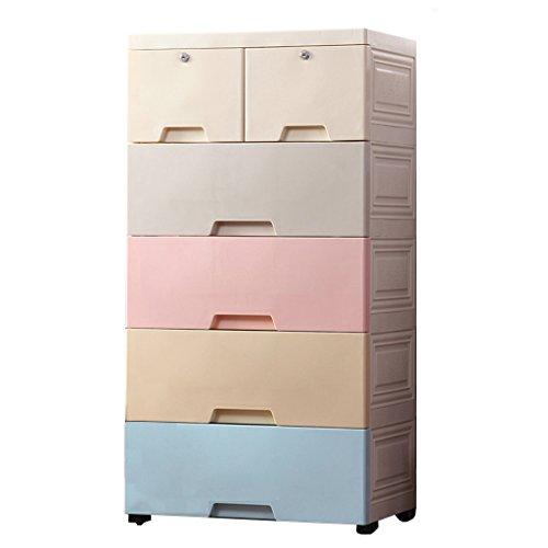 QCQ Nachttische Schublade Aufbewahrungsbox Wohnzimmer Extra große Kleiderschrank Kunststoff-Schrank Kinder Speicher Forcer (Color : A)