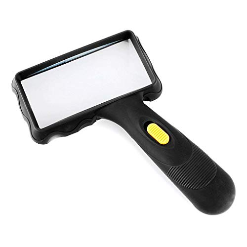 FANMENGY lupa 10 Tiempos de mano de cristal de alta definición de la luz LED de cristal con la gente que lee Antiguo Espejo Niños Estudiantes Con ampliada gran espejo lente de aumento for la lectura
